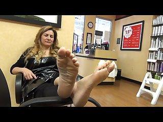 Mature feet juanita 40y