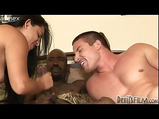 Two bisexual dudes and one nasty chick go wild