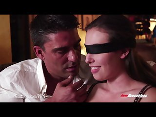 New sensations hotwife blindfolded by hubby waiting for secret lover