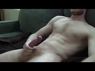 Young guy knocks out a thick cumshot