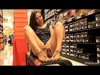 Beautiful teen jenna mastrubiert in a sportswear shop