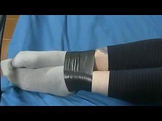Bondage tape in socks