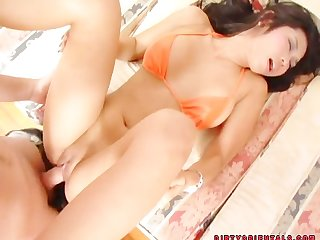 Amazing thai girl fucked by 2 guys