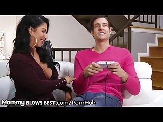 MommyBlowsBest Stripper MILF Sucks Gamer Step Son�s Cock
