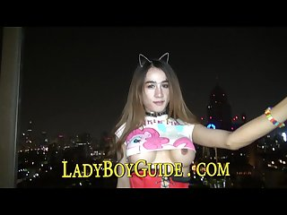 Sleeping ladyboy masturbates for big city