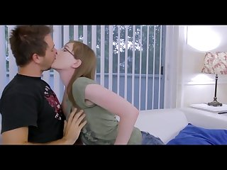 Cute transgender woman kissing boyfriend