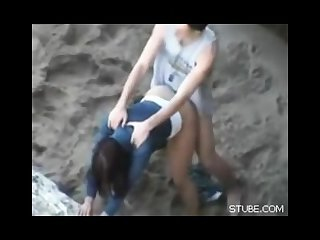 Amateur sex on the beach teens young