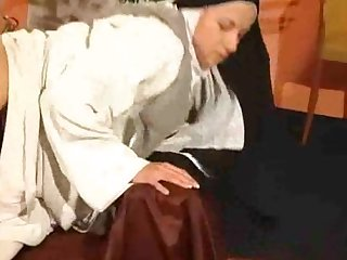 Anal nailed nun