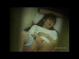 Asian hidden masturbation and hot orgasm with pee at the end