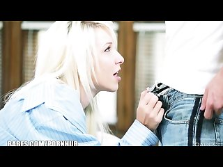 Sexy blonde girlfriend stevie shae has intense sex with her bf