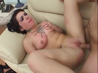 Rocker girl takes a ride on cock