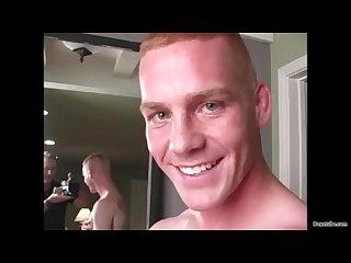 Straight marine blown during photoshoot