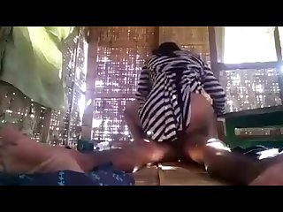 Myanmar couple take at home hidden camera sex