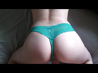 Pounding my girlfriend with her slutty thong on