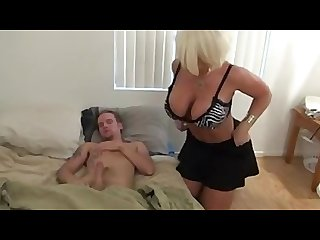 Step mom jerking off not her son