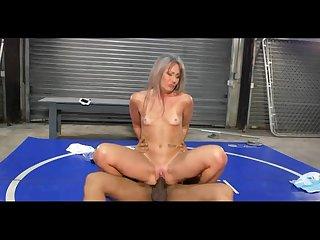 Skinny granny fuck her black trainer