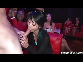 Bachelor party asian girl sucks dick