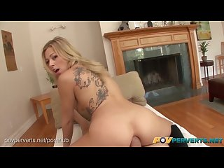 POVPerverts.net - Zoey Monroe Natural Blonde Slut Butt Fucked POV Style