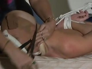 Crystal hogtied