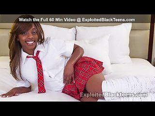 Petite ebony teen loves it hard in 1st time amateur black porn video