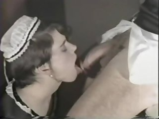Vintage maid cum in mouth