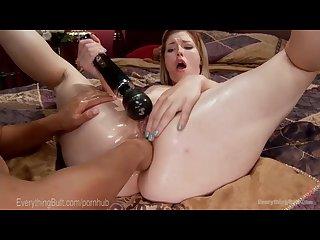 Lezdom anal bondage and creampie