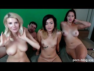 Amazing Foursome FFFM, Ends With The New Girl Taking A Facial