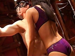 Asian mistress uses sensual Tickling to tease older guy
