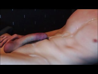 Wanking off my huge cock to a huge load