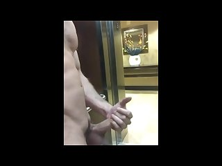 Public hotel jerk off