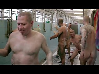 Rough miners naked together in the showers
