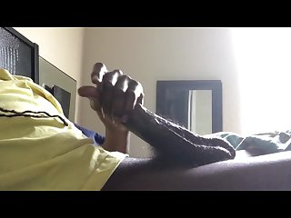Big black dick watching the flare do work cumshot