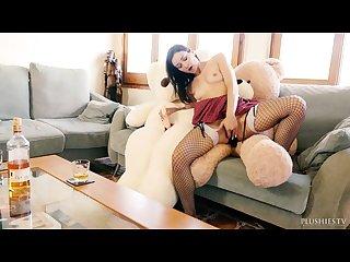 Italian porno star valentina bianco in hard core 3 some with 2 teddy bears
