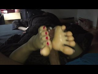 Japanese gf B day footjob