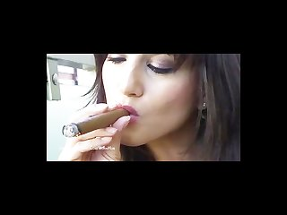 Indian pornstar sunny leone loves smoking cigars