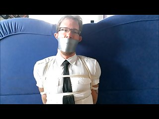 Bound and gagged in the office