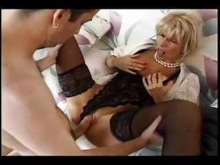 Mom sucks her step son s dick then gets fucked by him