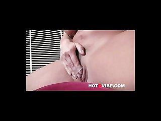 Lisa ann fingers her pussy