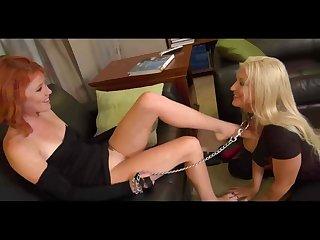 Lesbian slave domination foot worship