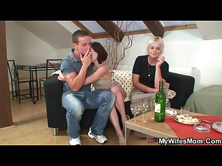 Horny Drunk granny lures her son in law