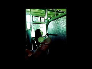 Latina chick 2 can t stop looking at big dick on bus