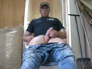Redneck farmboy jerking