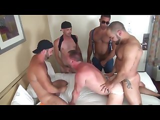 Gang bang the guy