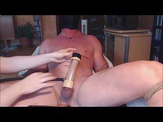 Venus 2000 milker 1 me milking my loud alpha stud
