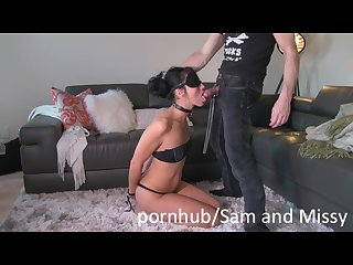 Dominant husband and submissive wife playing in front of camera samandmissy