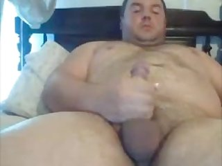 Beautiful chubby boy shoots a big thick load