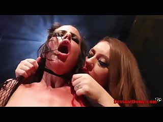 Hot babes enjoy hardcore girl on girl lesbian domination threesome