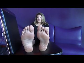 Blonde beautiful soles