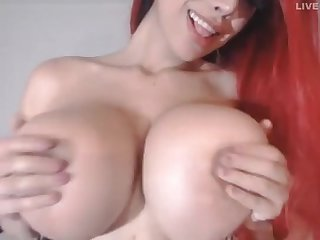 Sexy cam slut with big fake tits