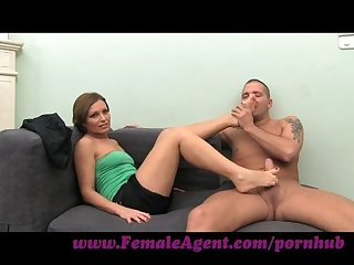 Femaleagent sexy foot fetish casting